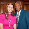 2012 Johhny Wilson Award nominee Morgan Tarlton of Lapel  High School with Johnny Wilson.