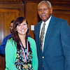 2012 Johhny Wilson Award nominee Lauren Craig of Daleville  High School with Johnny Wilson.