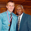 2012 Johhny Wilson Award nominee Joel Moser of Elwood  High School with Johnny Wilson.