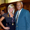 2012 Johhny Wilson Award nominee Michelle McFerran of Alexandria High School with Johnny Wilson.