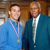 2012 Johhny Wilson Award nominee Kyle Nardi of Lapel  High School with Johnny Wilson.