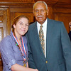 2012 Johhny Wilson Award nominee Chloe Miller of Anderson High School with Johnny Wilson.