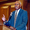 """Jumpin"" Johnny Wilson was the keynote speaker for the Johnny Wilson Awards luncheon."