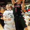 Borden senior Billy Kirchgessner goes up for a shot during their game against University in the semi-state tournament at Seymour on Saturday. Borden won the game, 47-44. The Braves will face Triton for the Class A state championship in Indianapolis on Saturday March 23. Staff photo by Christopher Fryer