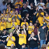 Clarksville fans cheer on their Generals during Saturday's regional semifinal against Austin at the Class 2A Southridge Regional. The Generals won 49-45 in overtime to advance to Saturday night's regional final against Linton-Stockton. Photo by Joe Ullrich.