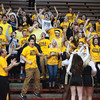 The Clarksville student section celebrates after their Generals' defeated Austin 49-45 in overtime at the Class 2A Southridge Regional. Photo by Joe Ullrich