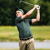 Floyd Central's Connor Welch hits from the fairway on the ninth hole at Champions Pointe Golf Club during the Providence Regional. Staff photo by Christopher Fryer