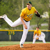 Floyd Central's Brandon Smith pitches during their game against Seymour at Floyd Central on Wednesday. Floyd Central won the game, 8-1. Staff photo by Christopher Fryer