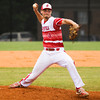 Jeffersonville senior Chandler Dale pitches during the Red Devils' 7-1 victory over New Albany in the championship game of the New Albany Sectional on Monday. Staff photo by Christopher Fryer