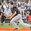 Providence's Jacob Quinkert connects for a single during the Pioneers' 3-0 loss at New Albany on Thursday. Staff photo by Christopher Fryer