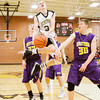 Henryville guard Braxton Robertson goes up for a shot during the Hornets' home game against Eastern on Thursday. Staff photo by Christopher Fryer