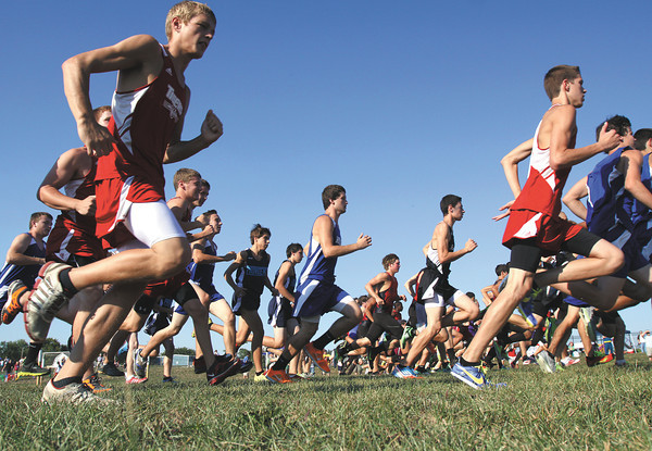 Runners at the start of the Charletown Invitational Thursday at Silver Creek Primary School. Staff photo by C.E. Branham