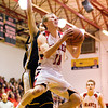 Borden's Billy Kirchgessner goes up for a shot during their home game against Clarksville on Friday. Staff photo by Christopher Fryer