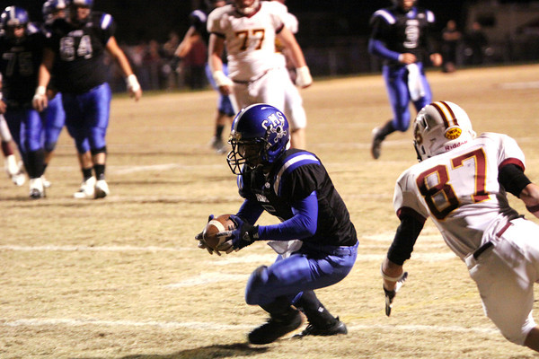 Charlestown running back Tyler Odle finds the end zone for a 14-yard touchdown reception Friday night against Gibson Southern. Staff photo by C.E. Branham
