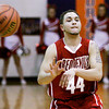 Jeffersonville's Myles Harvey passes the ball down court during their game against Silver Creek on Friday. Staff photo by Christopher Fryer