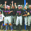 The Silver Creek dugout cheers during the championship game of the 3A Sectional against Charlestown. Staff photo by C.E. Branham