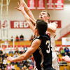 Jeffersonville's Drew Ellis goes up for a shot during their home game against Corydon Central on Tuesday. Staff photo by Christopher Fryer