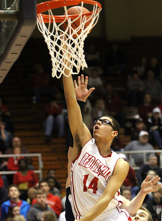 Jeffersonville senior Devin Shackleford gets an open look against Bedford North Lawrence Friday night in Seymour. Staff photo by C.E. Branham