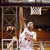 Jeffersonville junior Keenan Williams scores against Floyd Central in 4A sectional play Tuesday night. Staff photo by C.E. Branham