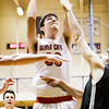 Silver Creek forward Jake Steele goes up for a shot during the Dragons' game against Corydon at the North Harrison Sectional on Friday. Staff photo by Christopher Fryer