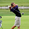 Providence golfer Bryce Very hitting off the fairway of the ninth hole in the IHSAA Golf Sectional on Monday morning at Covered Bridge Golf Club. Staff photo by C.E. Branham