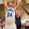 Providence center George Knott goes up for a shot during their home game against Christian Academy on Friday. Staff photo by Christopher Fryer