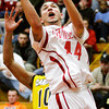 Jeffersonville guard Myles Harvey goes up for a shot during their home game against Clarksville on Friday. Jeffersonville won the game, 77-59. Staff photo by Christopher Fryer