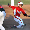 Jeff/GRC 11-12 All-Star Timmy Borden slides safely into third base Friday night against New Albany. Borden advanced home to score on the play as Jeff/GRC won 4-2 in District V play at Charlestown. Staff photo by C.E. Branham