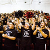 New Albany fans cheer as the Bulldogs' starting line up is announced before the start of their home game against Jeffersonville on Friday. New Albany won the game, 67-56. Staff photo by Christopher Fryer
