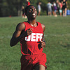 Jeffersonville runner Tyrell Dowdell finished second in the charlestown Invitational on Thursday. Staff photo by C.E. Branham