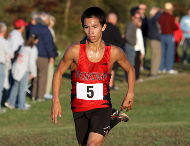 Borden cross country runner Julian Magallanes at the Crawford County Sectional on Tuesday. Staff photo by C.E. Branham