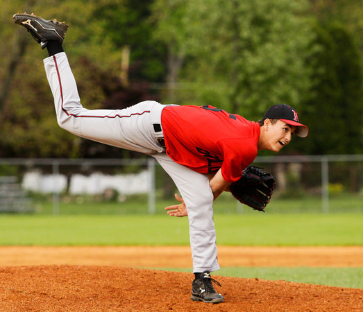 New Albany's Brandon Johnson pitches during the first inning of their game at Providence on Thursday. Staff photo by Christopher Fryer