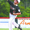 New Albany 11-12 pitcher Cooper Biven delivers a pitch in their opening District V pool play game against HYR on Saturday. Staff photo by C.E. Branham