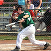 HYR 10-11 All-Star Kellen Northam rips a double against Silver Creek Monday night in District V tourney play. Staff photo by C.E. Branham