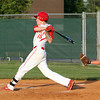 Jeffersonville batter Josh Burke connects for a single and RBI Wednesday night against Silver Creek. Staff photo by C.E. Branham