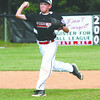 New Albany 11-12 shortstop Nolan Keeler makes a play against HYR in District V pool play Saturday evening. Staff photo by C.E. Branham
