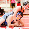Charlestown sophomore Dillon Gray wrestles Christian Academy sophomore Kevin Morris during their 138-pound match at the Jeffersonville Sectional on Saturday. Gray pinned Morris to win the match. Staff photo by Christopher Fryer