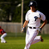 Providence's Ben Shahroudi approaches third base on a triple during the Pioneers' home game against Madison on Wednesday. Staff photo by Christopher Fryer