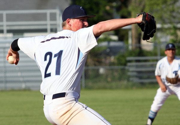 Providence pitcher Andrew Hunt works the mound against Silver Creek on Tuesday afternoon. Staff photo by C.E. Branham