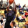 Christian Academy senior Davonte King scores at Henryville on Tuesday night. Staff photo by C.E. Branham