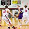 Eastern junior Alex Doebler moves to pass during the Musketeers' game at Borden on Tuesday. Staff photo by Christopher Fryer