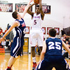 New Albany guard Davon Winburn goes up for a shot during the Bulldogs' home game against Bedford North Lawrence on Friday. Staff photo by Christopher Fryer