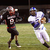 Charlestown quarterback Aaron Daniel carries in for a touchdown against Brownstown Central. Staff photo by C.E. Branham
