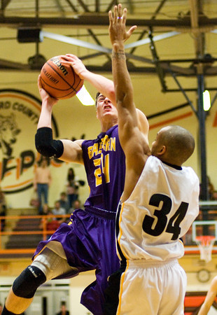 Eastern guard Tevin Wolf goes up for a shot during their game against Clarksville at the Crawford County Sectional on Friday. Staff photo by Christopher Fryer