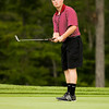 Borden's Kamden Hurst putts on the ninth green at Champions Pointe Golf Club during the Providence Regional on Thursday. Staff photo by Christopher Fryer