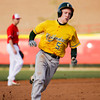 Floyd Central's Michael Springer steals third base during the Highlanders' game at Jeffersonville on Wednesday. Staff photo by Christopher Fryer