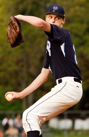Providence's Austin Dickey pitches during the fourth inning of their home game against New Albany on Thursday. Staff photo by Christopher Fryer