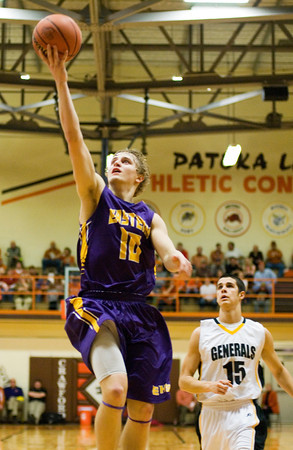 Eastern guard R.J. Jackson goes up for a shot during their game against Clarksville at the Crawford County Sectional on Friday. Staff photo by Christopher Fryer