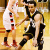 Clarksville's Andrew Jones drives to the basket during their game at Borden on Friday. Staff photo by Christopher Fryer