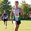 Floyd Central's Luke Uhl approaches the finish line just seconds ahead of Providence's Lincoln Ottersback during the men's race of the Bulldog Classic cross country invitational in New Albany on Saturday morning. Uhl finished in first place and Ottersback came in second. Staff photo by Christopher Fryer